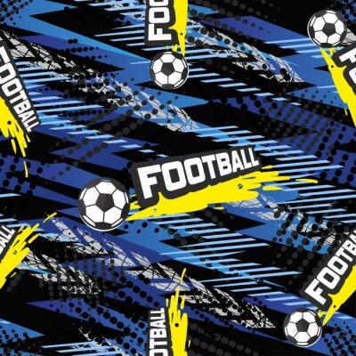Tapeta Piłka nożna bez szwu wzorzec dla chłopca. Piłki sportowe na tle