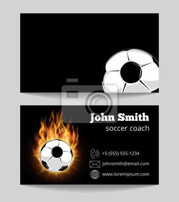 Piłka Nożna Szablon Karty Biznes Czarny Tapety Redro