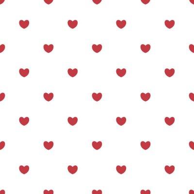 Tapeta Pink hearts seamless pattern