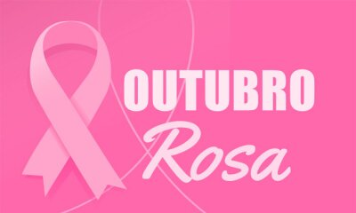 Tapeta Pink October banner. Breast Cancer Awareness Month. Outubro Rosa