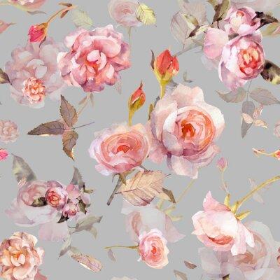 Tapeta pinkrose pattern