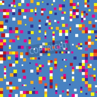 Tapeta pixel squares background seamless pattern
