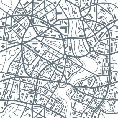 Tapeta Plan miasta Streszczenie szwu - Ilustracja