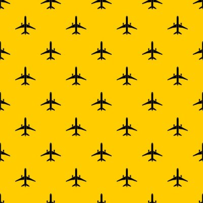 Tapeta Plane pattern seamless vector repeat geometric yellow for any design