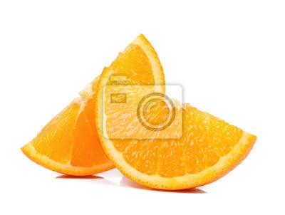 Tapeta Plasterek Orange samodzielnie na białym tle