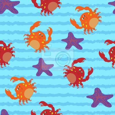 Tapeta Pływanie Z kraby