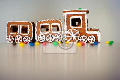 Pociąg Boże Narodzenie z piernika