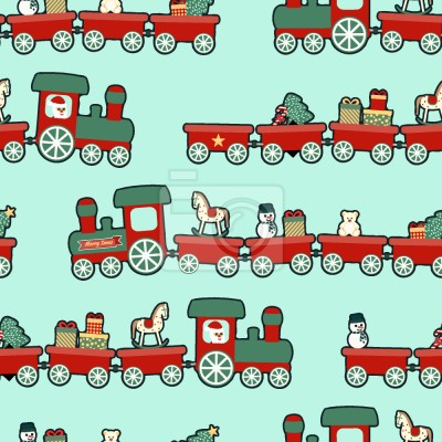 Tapeta Pociąg świąteczny
