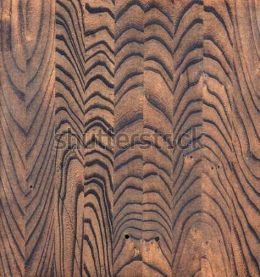 Tapeta Poddane obróbce drewniane tło, struktura drewna w paski, świeżo zabarwiony wiąz, farba brązowa bejca