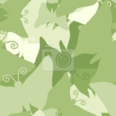 Tapeta Podróż Zielonych Motylek