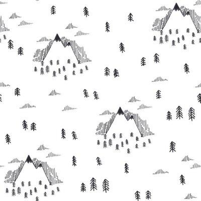 Tapeta Podróżuj bez szwu deseń w stylu doodle