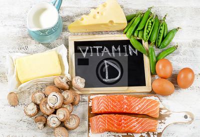 Tapeta Pokarmy bogate w witaminę D.
