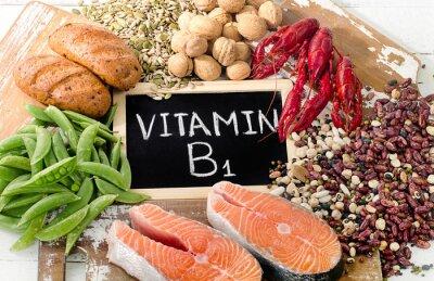 Tapeta Pokarmy najwyższa w witaminy B1 (tiaminy)