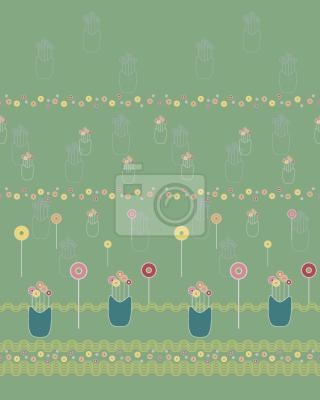 Tapeta Polne kwiaty lizaka