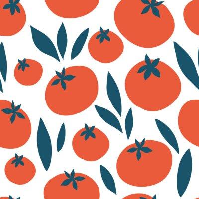 Tapeta Pomidorowy wektorowy bezszwowy wzór