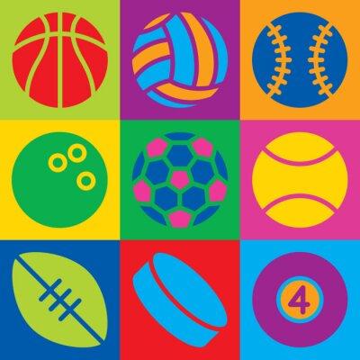 Tapeta Pop Art Sport Balls