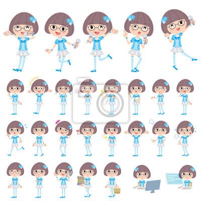 Pop Idol w niebieskim stroju