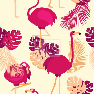 Tapeta Pozycje flamingów