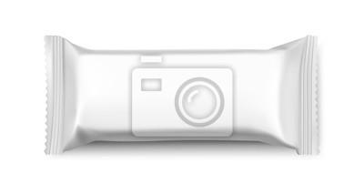 Tapeta Pusta makieta pakietu flow. Wektorowa ilustracja odizolowywająca na białym tle. Może być stosowany w adv, promocjach, opakowaniach itp. EPS10.