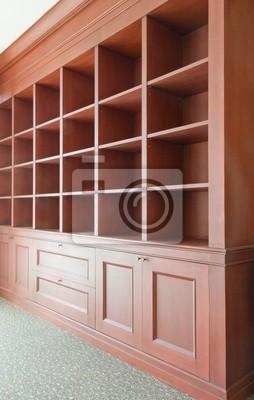 Tapeta puste drewniane półki
