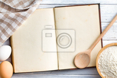 Tapeta puste książki kucharskiej