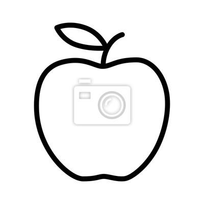 Tapeta Pyszne jabłka linii sztuki ikonę aplikacji i stron internetowych