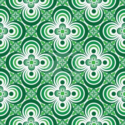 Tapeta Quatrefoil Zielony