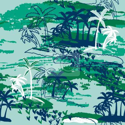 Tapeta Rajska Wyspa Zielona
