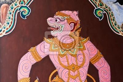 Tapeta Ramajana obraz w świątyni Szmaragdowego Buddy