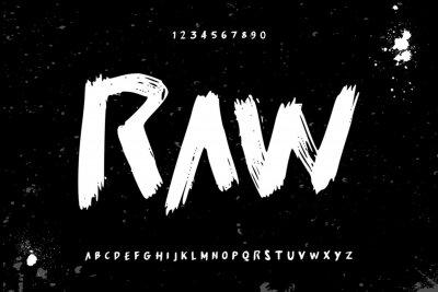 Tapeta raw brush stroke handwritten alphabet vector sans serif font design
