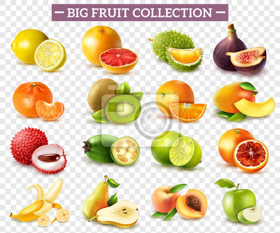 Tapeta Realistyczny zestaw owoców