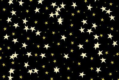 Ręcznie rysowane gwiazd na czarnym tle