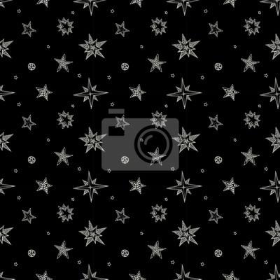 ręcznie rysowane gwiazdek
