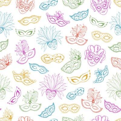 Tapeta Ręcznie rysowane karnawałowe tapety.