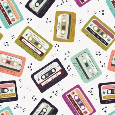 Tapeta Ręcznie rysowane kaseta magnetofonowa wzór