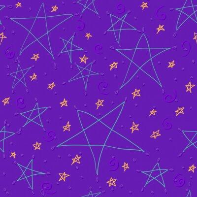 Ręcznie rysowane tła gwiazdy