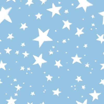 Ręcznie rysowane wzór gwiazdki
