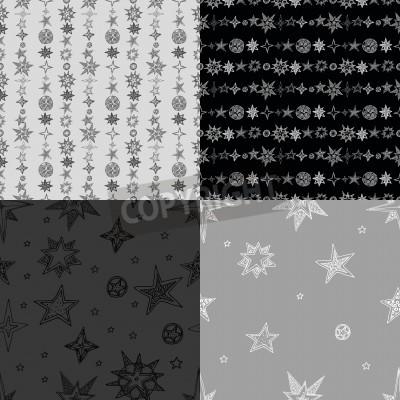 ręcznie rysowane zestaw gwiazdek
