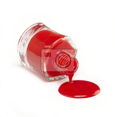 Tapeta Red polski paznokci
