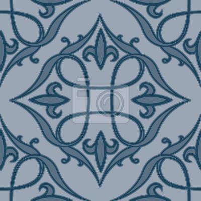 Tapeta renesansowy Niebieski
