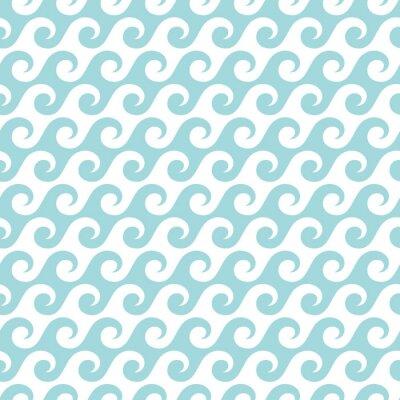 Tapeta Retro bezszwowe Fale Turquoise
