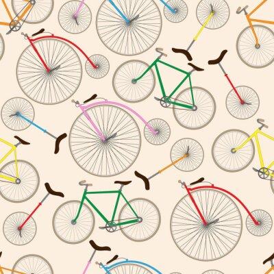 Tapeta Retro bicycle texture. Seamless pattern