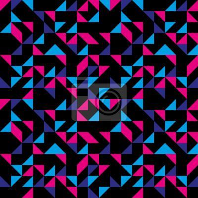 Tapeta retro trójkąty