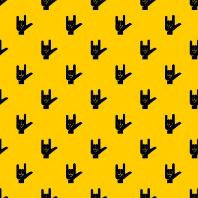 Tapeta Rock gesture pattern seamless vector repeat geometric yellow for any design