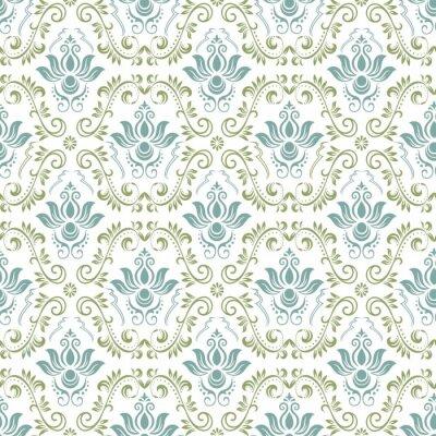 Tapeta Rocznika ornamentacyjny tło, wektor koronkowa tekstura, bezszwowy kwiecisty wzór