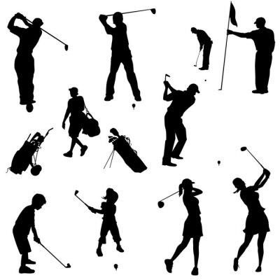 Tapeta rodzin Golf sylwetki