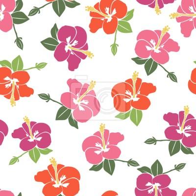 Romantyczny kwiat hibiskusa