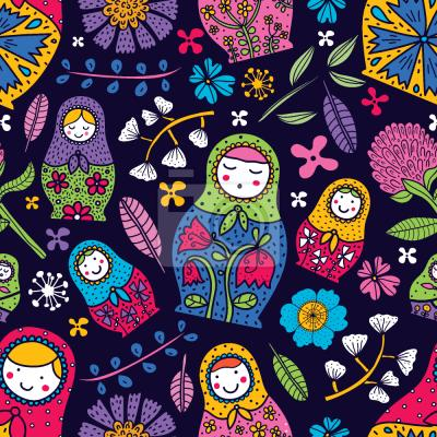 Tapeta Rosyjski Babuszki Kwiatu