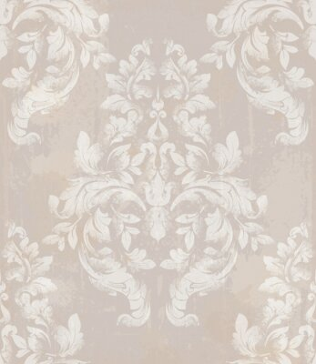 Tapeta Royal ornament tkanina tło. Adamaszek wzór tekstury wektor. Luksusowe dekory w tle