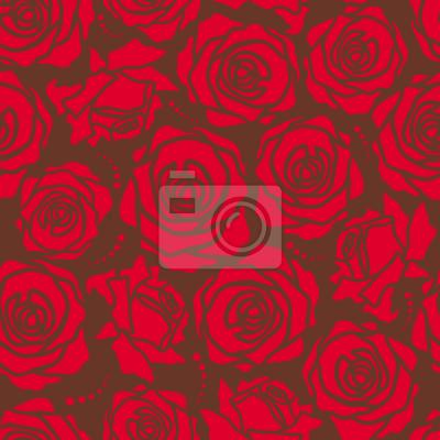 Tapeta Róża Kwiatów Czerwony